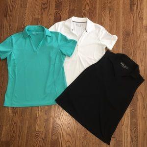 Lady Hagen golf shirts. 3 pc lot